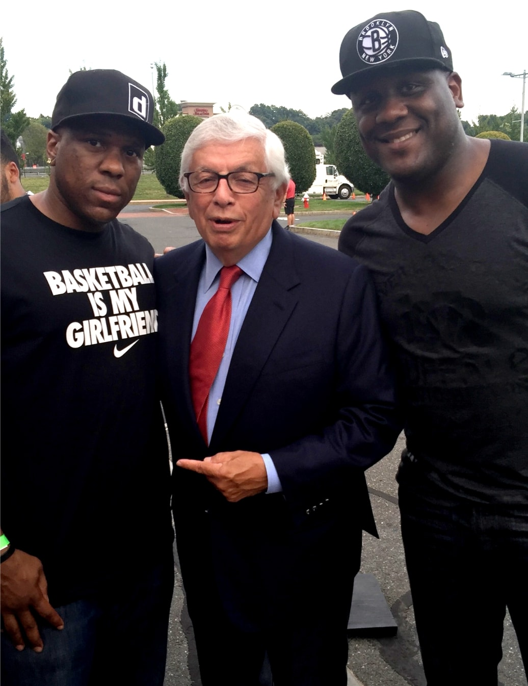 With the Former commissioner of the NBA, the great David Stern