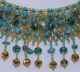 Mayan Beaded Choker with Turquoise