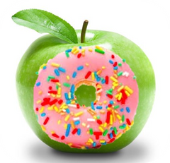 Who has more sugar an Apple or a Donut