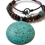 Mayan necklace with medallion
