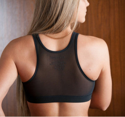 Racer Mesh Back Sports Bra