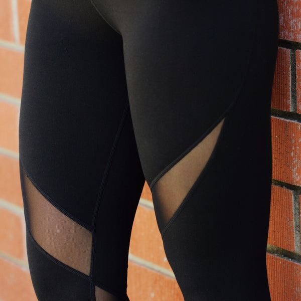 Mesh Swirl Leggings