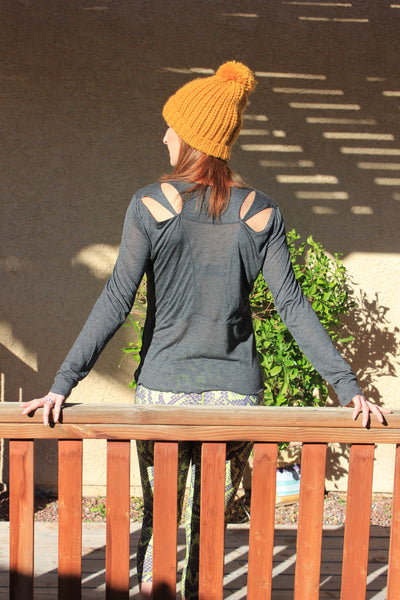 Joli Mesh Center Long Sleeve