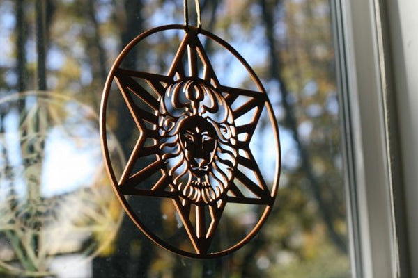 Star Lion Sun Catcher