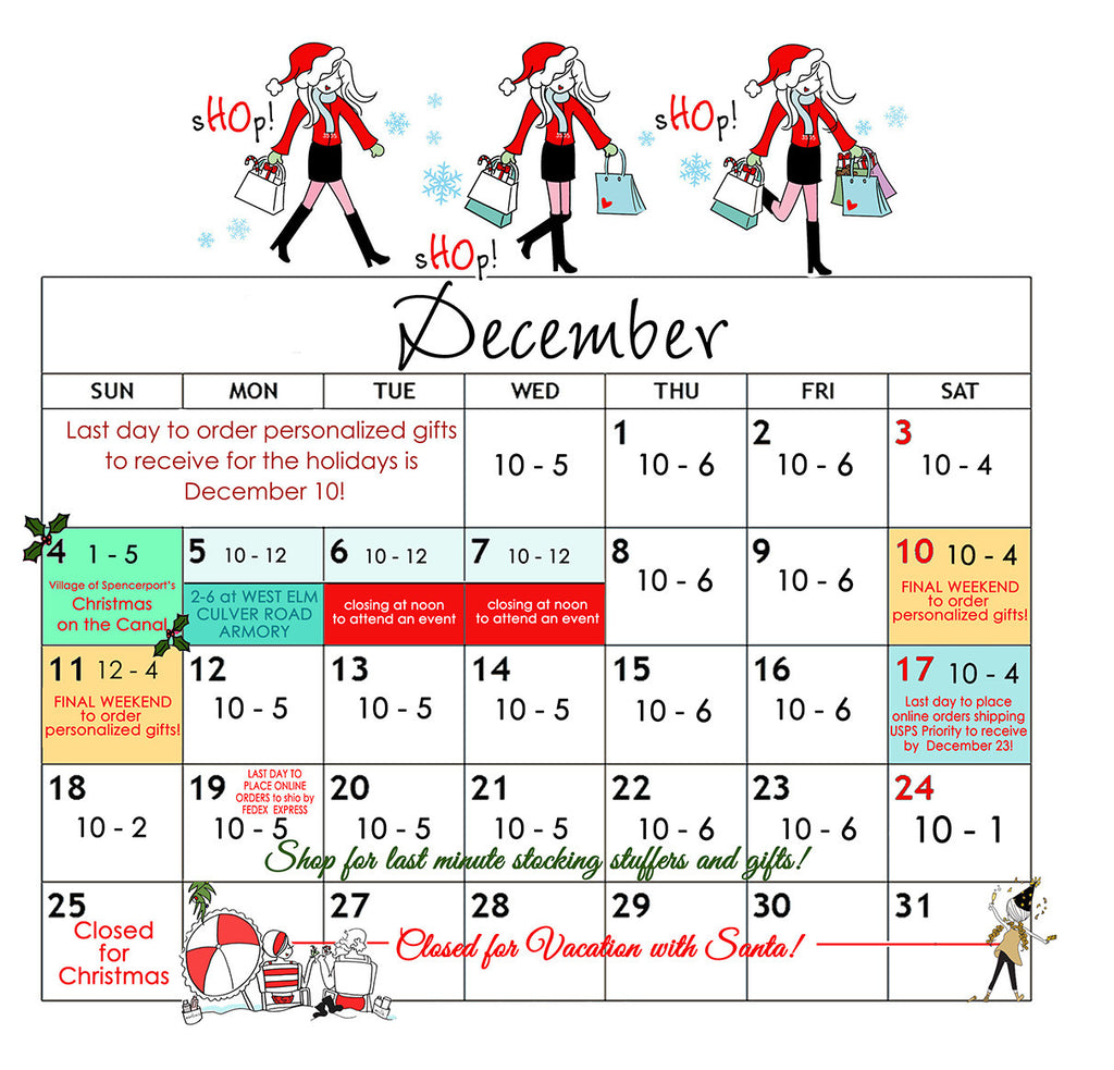 philoSophie's Holiday Hours and Order Deadlines