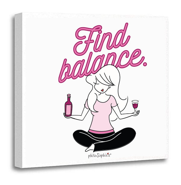 Find Balance 12 x 12 Stretched Canvas