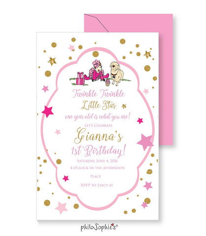 1st Birthday Invitation - Star! - philoSophie's®