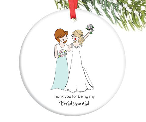 Custom Bridal Party Ornament - Bridesmaid, Maid of Honor, Matron of Honor - philoSophie's®