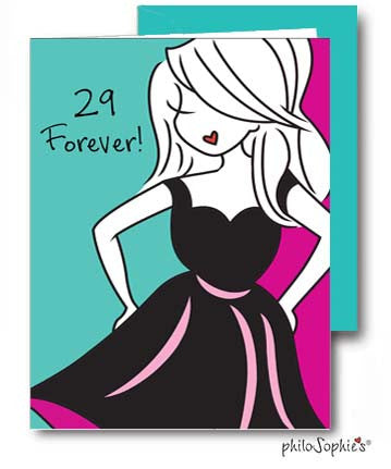 29 Forever - Birthday Greeting Card - philoSophie's®