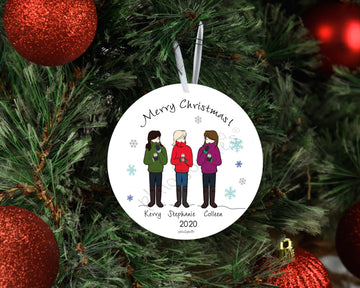 Sweater Weather Friendship Ornament - Friendship Ornament personalized philosophie's