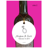 Paris Engagement Wine Tag/Ornament