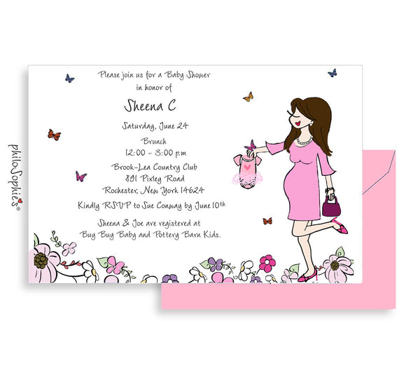 Personalized Baby Shower - Butterflies