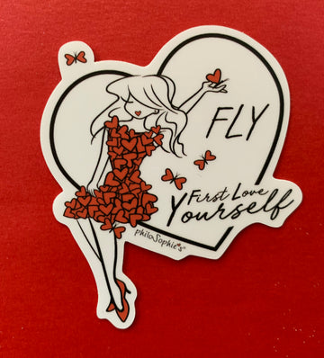 FLY - First Love Yourself Vinyl Sticker
