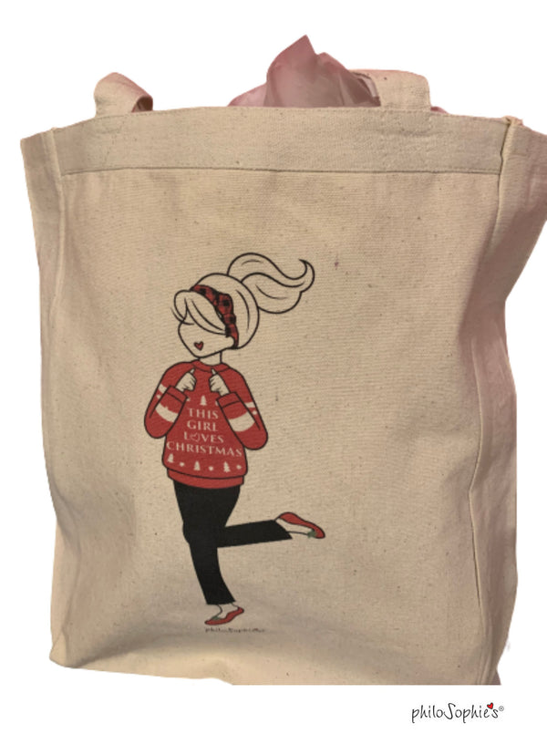 This Girl Loves Christmas tote