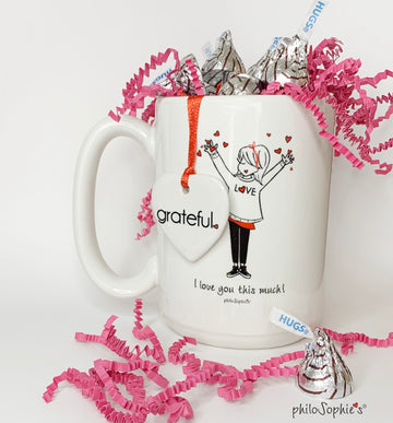 Valentine 'I love you this much!' 15 Ounce Ceramic Mug