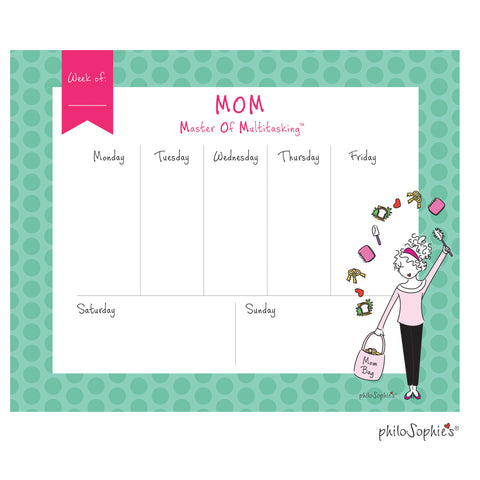 M.O.M. Weekly Desk Pad - philoSophie's®