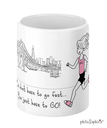 You just have to go - Marathon personalized mug - philoSophie's®