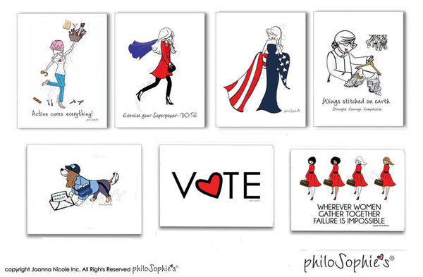 VOTE philoSophie's Boxed Notecard Set