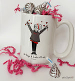Valentine Air Hugs & Sending Lots of Love 15 Ounce Ceramic Mug