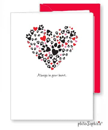 'Always in your heart' pet sympathy card