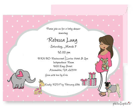 Personalized Baby Shower - Polka Dots and Baby Animals - philoSophie's®