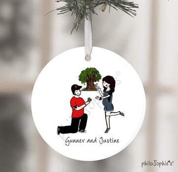 Tree of Life Engagement Wine Tag/Ornament