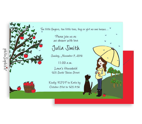 Personalized Baby Shower - Apple Picking