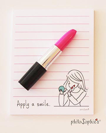Apply a Smile Notepad with 'Lipstick' Pen - philoSophie's®