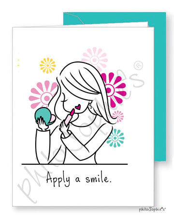 Apply a Smile Greeting Card