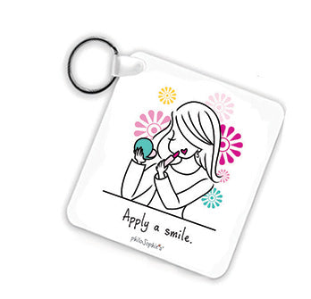 Apply a Smile Keychain