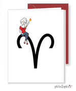 Zodiac: Aries Greeting Card