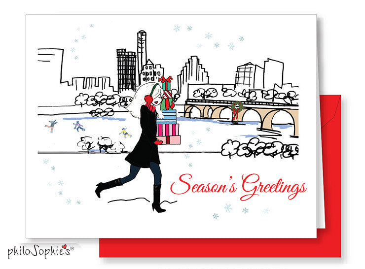 Season's Greetings Austin Greeting Card - philoSophie's®