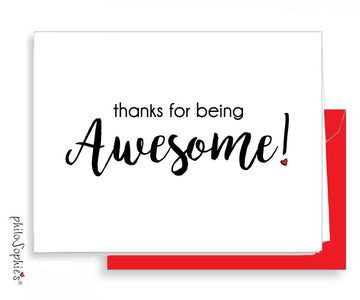 Thanks for being awesome! - Folded with Envelopes