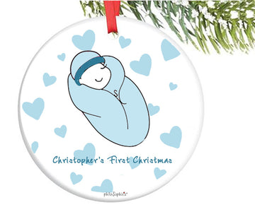 Welcome Little One ~ New Baby Personalized Ornament