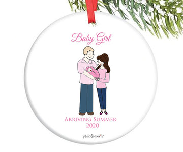 Personalized Expecting Baby Ornament