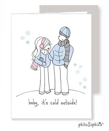 Baby It's Cold Outside - Expecting Greeting Card