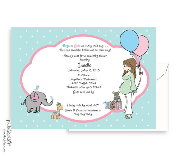 Personalized Baby Shower - Twins on the way! - philoSophie's®