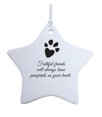 In Memory of Pet ornament / Pet Sympathy Remembrance Ornament - Star Ornament
