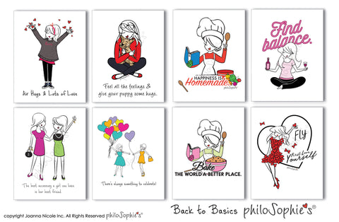Back to Basics philoSophie's Boxed Notecard Set