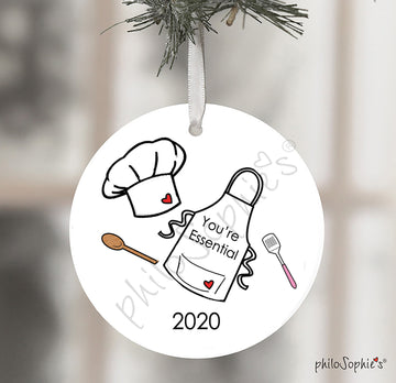 Essential Worker, Chef, Baker, , Quarantined Christmas Ornament,Gift,2020