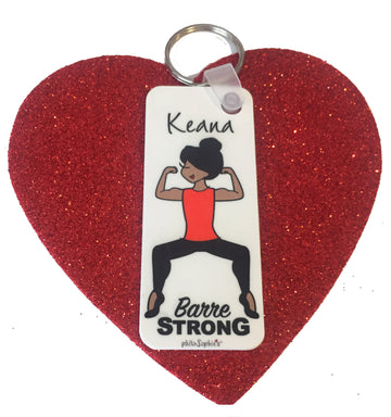 Personalized Barre Strong Keychain