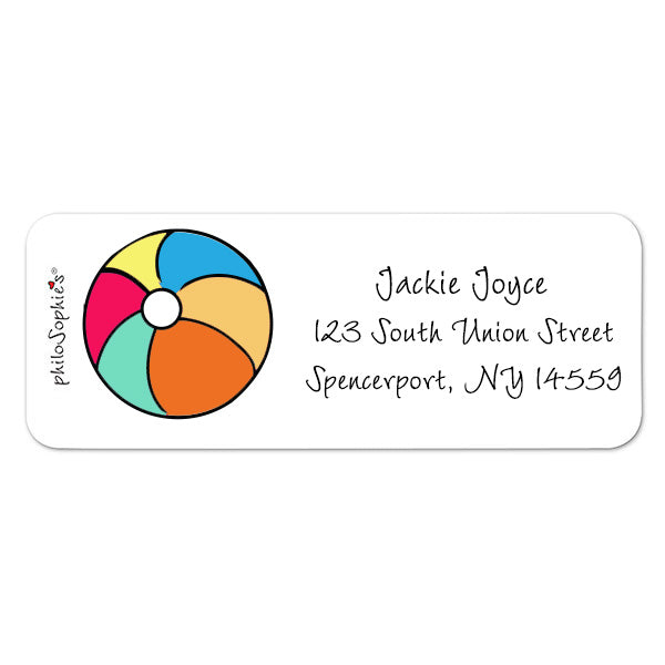 Beach Ball - Return Address Labels