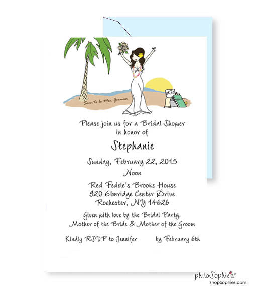 Personalized Bridal Shower - Beach Bride