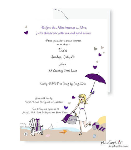 Personalized Bridal Shower - Beach Shower with Love
