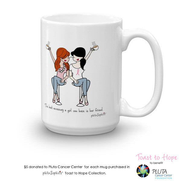 Toast To Hope Friend (personalize) mug to benefit Pluta Cancer Center