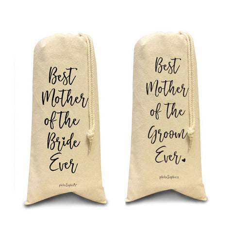 Best Mother of Bride/ Mother of Groom Ever totes/Wine & Spirits Tote - philoSophie's®