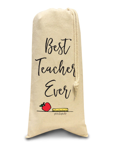 Best Teacher Ever tote/Wine & Spirits Tote