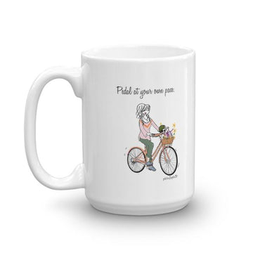 'Pedal at your own pace.' 15 ounce philoSophie's  Ceramic Mug