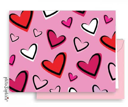 Big Heart - Small Folded Valentine Note - philoSophie's®