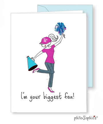 Biggest Fan philoSophie's Greeting Card